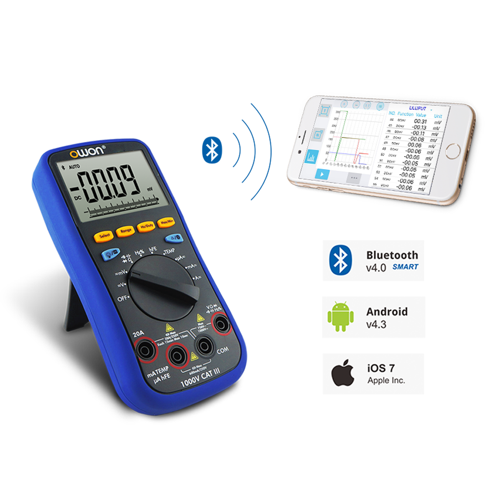 OWON 3 5/6 Digital Multimeter with Bluetooth