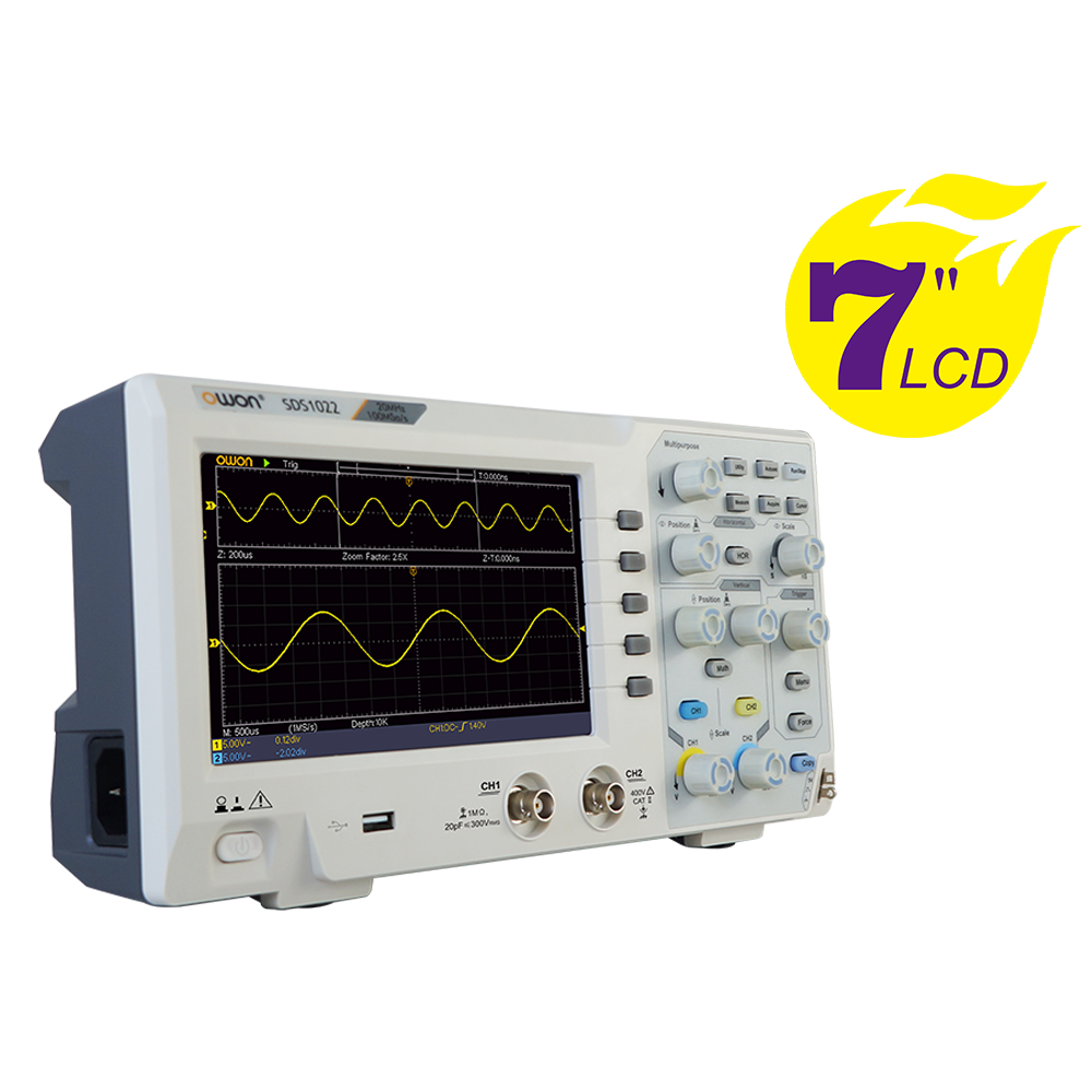 OWON SDS1000 2CH Series Super Economical Type Digital Oscilloscope